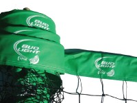 Bud Light Lime Custom Logo Print Volleyball Net Closeup